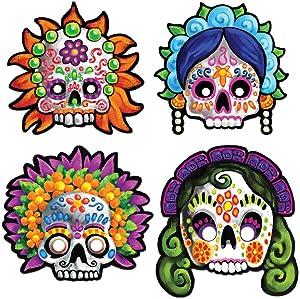 Day Of The Dead Masks (4/Pkg)