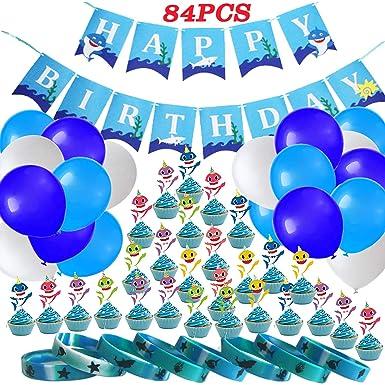 Amazon.com: Artículos para fiesta de cumpleaños de tiburón ...