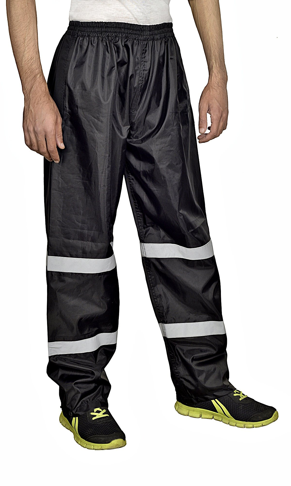 Xtreemgear Mens Rain Pants 100% Waterproof Reflective Stripes for Night time Visibility (XXL)
