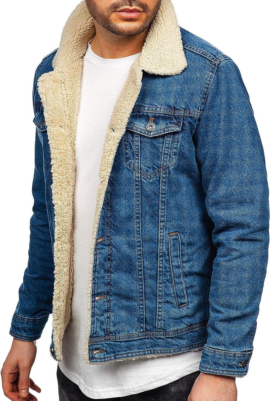 BOLF Mens Denim Jacket Casual Jeans Coat Buttoned Streetwear Urban Style Mix 4D4