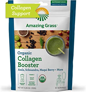 product image for Amazing Grass Vegan Collagen Booster: Plant based Collagen Support Smoothie Booster with Amla, Schisandra & Maqui Berry, 30 Servings