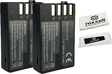 2 Unidades) WT nixxell batería para Pentax D-LI109 y Pentax PK ...