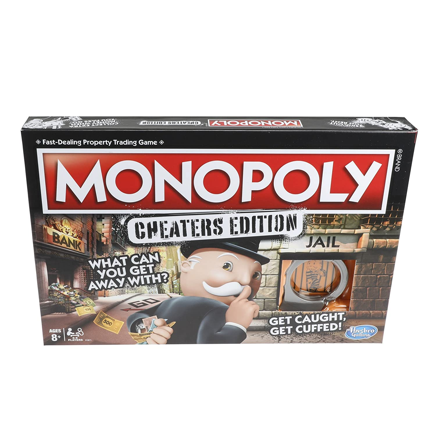 Hasbro Monopoly Game: Cheaters Edition Board Game Ages 8 and Up