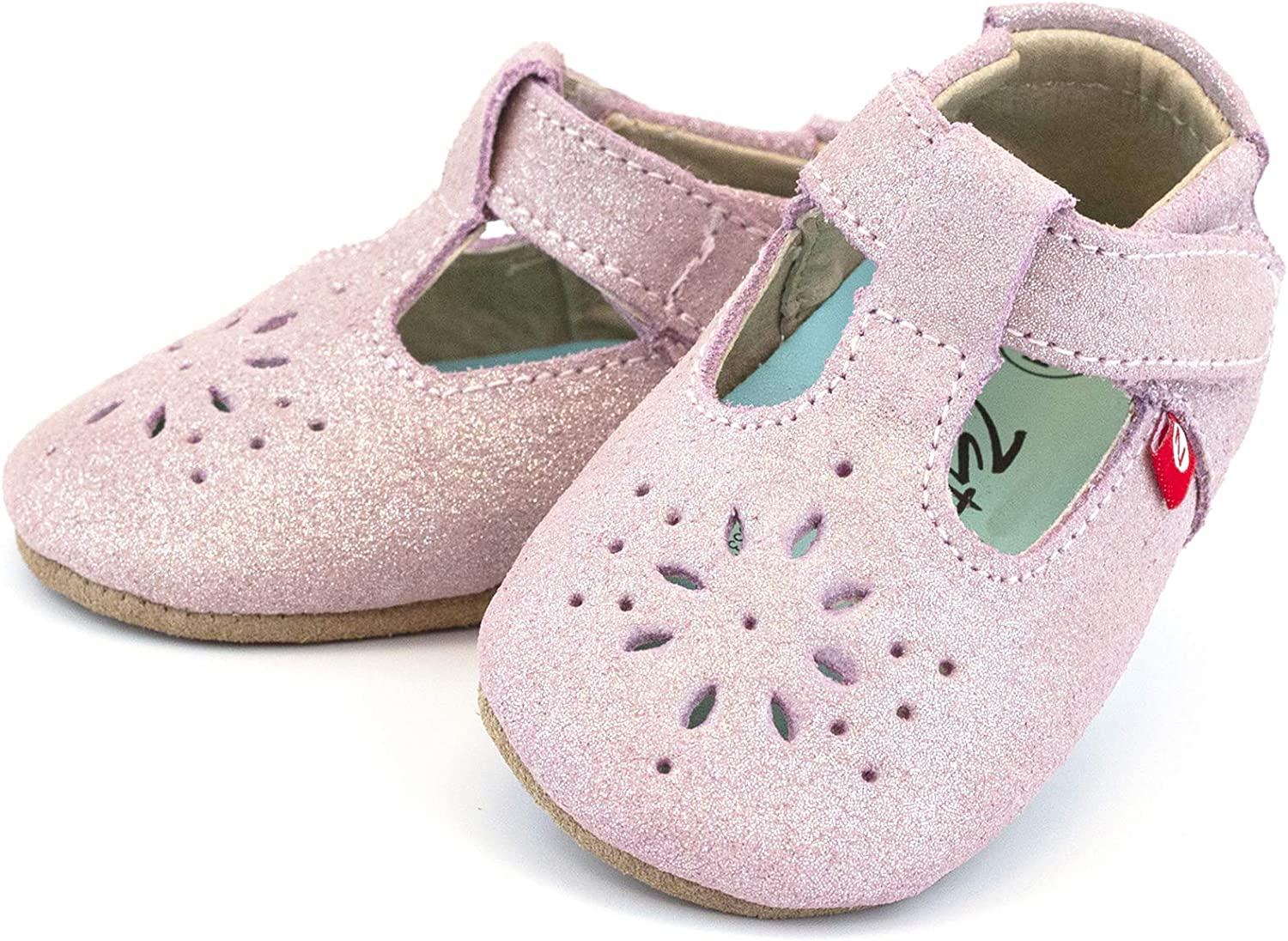 Anti-Slip and Soft Sole Zutano Easy On Leather Mary Jane Baby Shoes