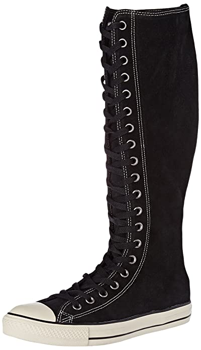 Star Lace-Up Knee High Boots