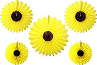 product image for 5-Piece Large Sunflower Fan Decoration, 13-27 Inch