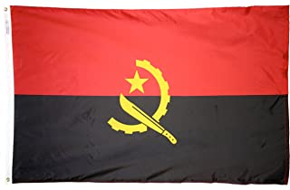 product image for Annin Flagmakers Model 190277 Angola Flag 3x5 ft. Nylon SolarGuard Nyl-Glo 100% Made in USA to Official United Nations Design Specifications.
