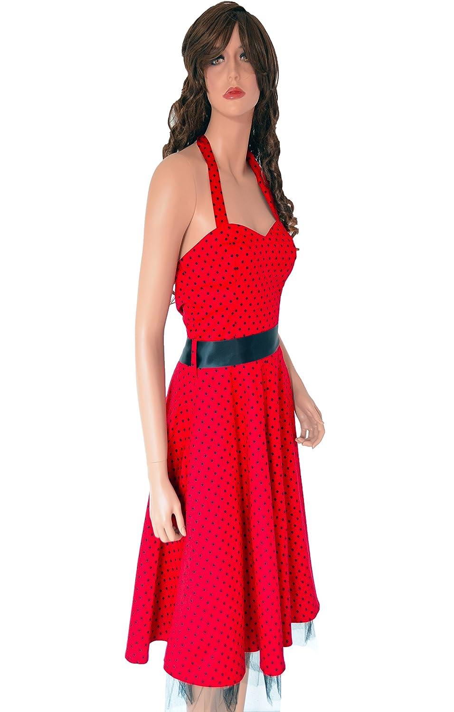 Elegant Damen Sommerkleid Vintage Retro 50s 50er Rockabilly ...