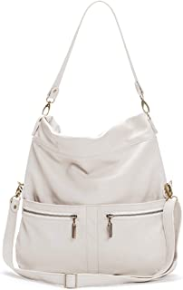 product image for Light Stone Italian Leather Large Convertible Foldover Crossbody
