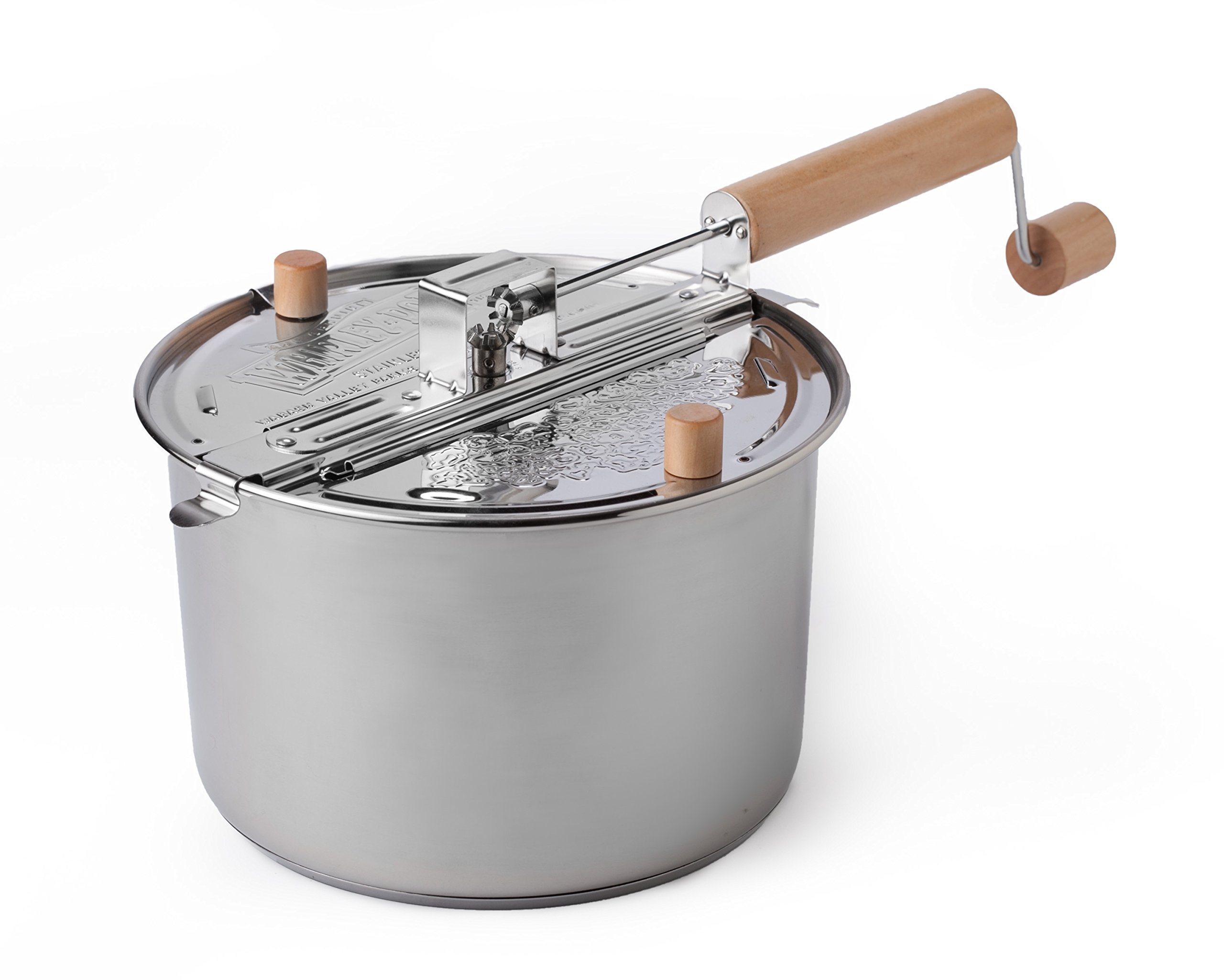 Whirley Pop Stainless Steel 6 Quart Stovetop Popper