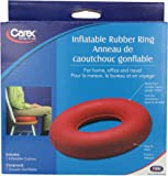 Carex Inflatable Rubber Ring, 1 Count