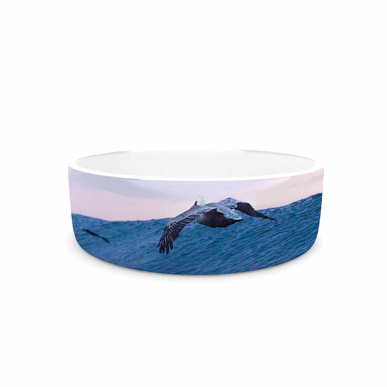 KESS InHouse Colin Pierce Sky Surfers Lavender Pink Photography Pet Bowl, 7  Diameter
