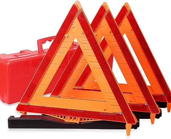 Cartman Reflective Warning Road Safety Triangle Kit