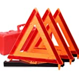 CARTMAN Warning Triangle DOT Approved 3PK, Identical to: United States FMVSS 571.125, Reflective Warning Road Safety…