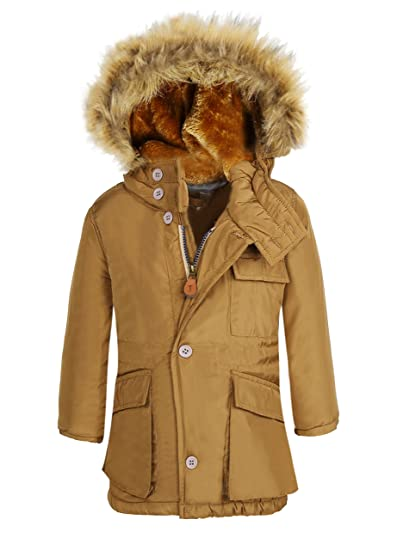 2ede2dd712c3 Amazon.com  SeaDee Boy s Winter Coats Insulated Jackets With Fleece ...