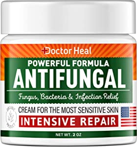 Antifungal Cream for Intensive Repair - Made in USA - Fast-Acting Relief for Fungus, Jock Itch & Athletes Foot - Antifungal Treatment for Burning Relief - Fungus Cream with Tea Tree Oil 2oz