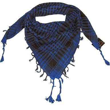 5361043511ab LOVARZI Bleu écharpe pour homme et femme Keffieh Foulard Palestinien pour  Garçons et Filles