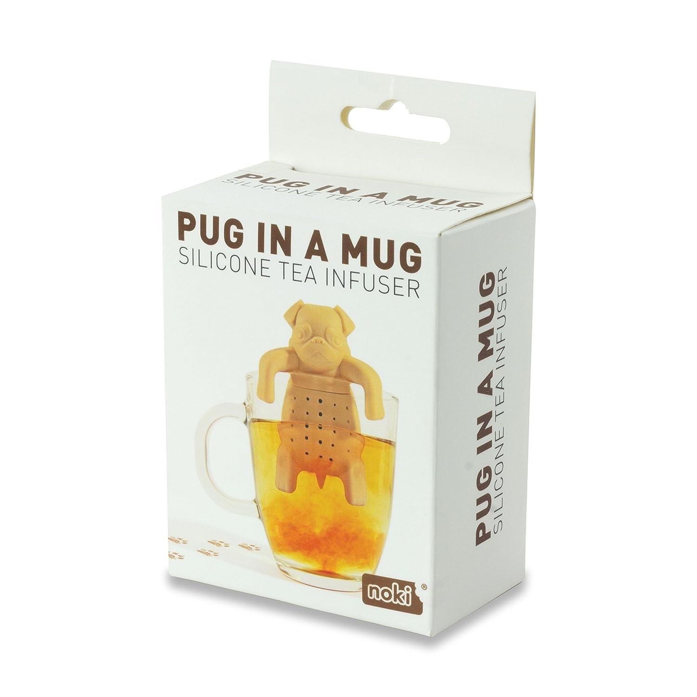 Marr/ón NOKI INFUSOR DE TE Original Gift Pug IN A MUG Silicona