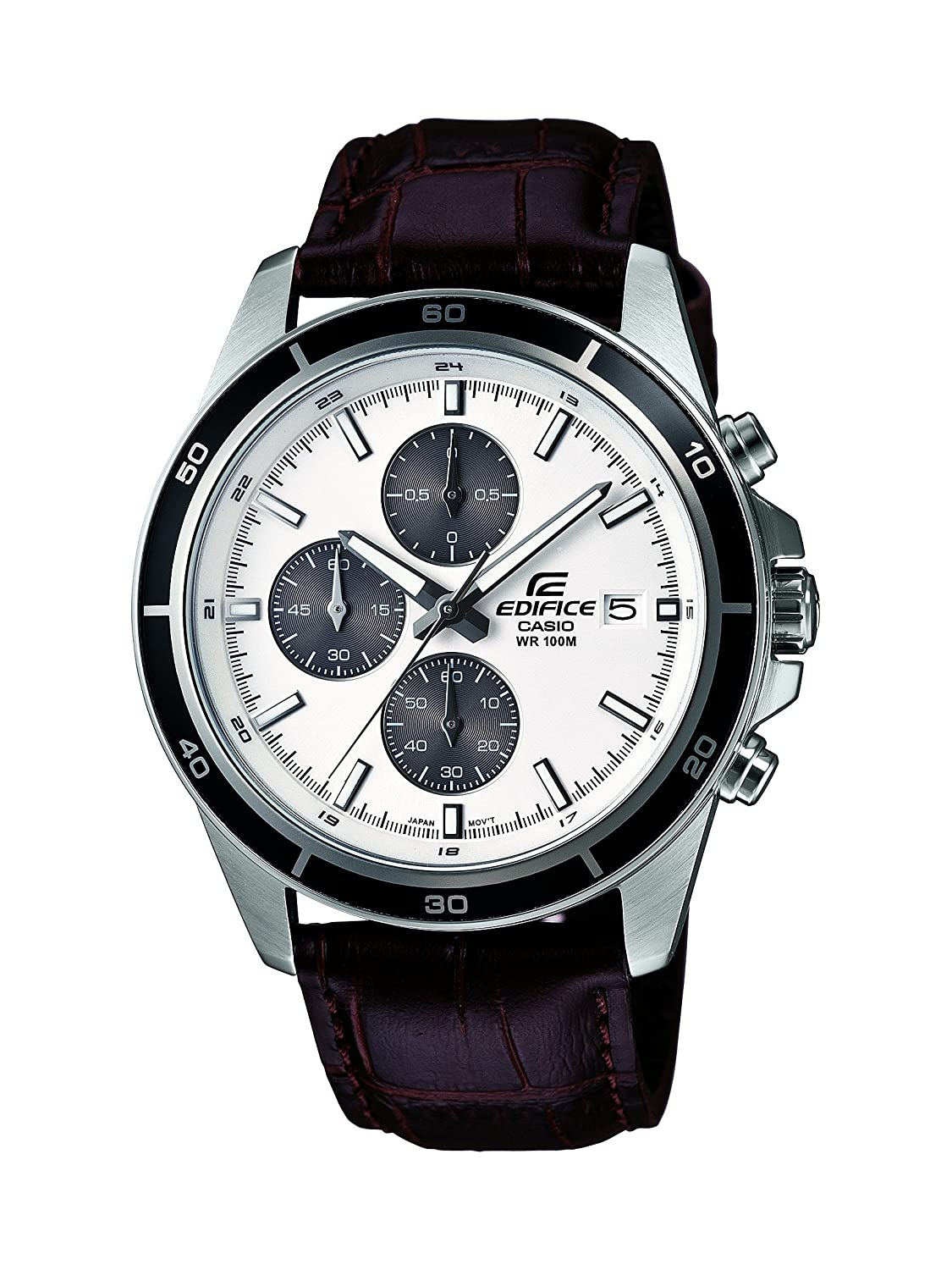 Buy Casio Edifice Chronograph White Dial Mens Watch Efr 526l 7avudf Expedition E6681 Rose Gold Black Ex097 Online At Low Prices In India