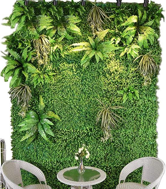 Yw-Flower Hoja de Cobertura de Hoja Artificial, Pantalla de cercado de privacidad Cubierta de la Pared Verde Jardín Decoración Interior Jardín Interior, 1M × 1M,Upgrade: Amazon.es: Hogar