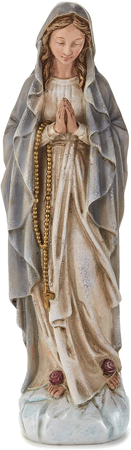 The Lakeside Collection Saint Mary Figurine Garden Accent Statue for Outdoor Landscaping