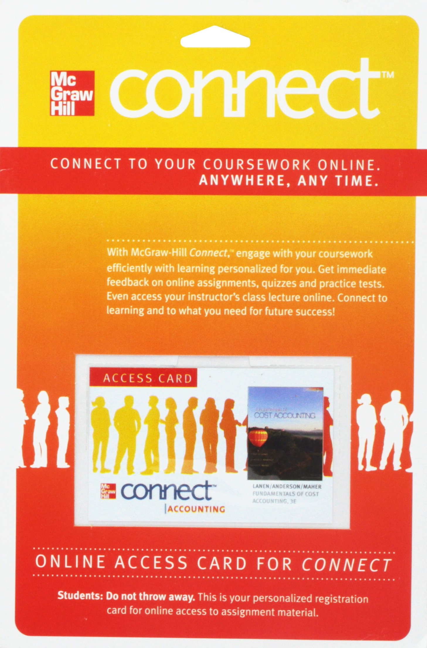 Connect Access Card for Fundamentals of Cost Accounting (McGraw Hill ...