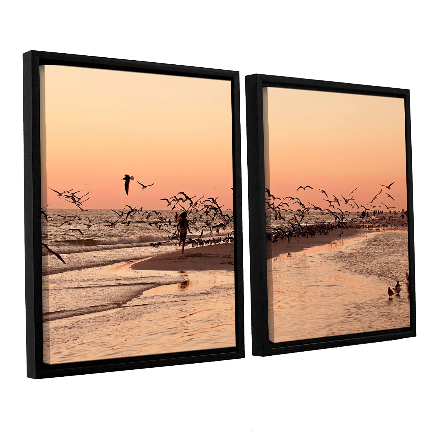 ArtWall Lindsey Janich More 2 Piece Floater Framed Canvas Artwork 32 by 48