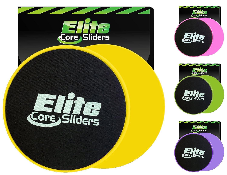 Elite Sportz Core Sliders und Gliding Disc Fitness Training - Sliders Fitness für Den Kern - Doppelseitig für Den Einsatz auf Teppich Oder Parkett Elite sportz equipment CSY22