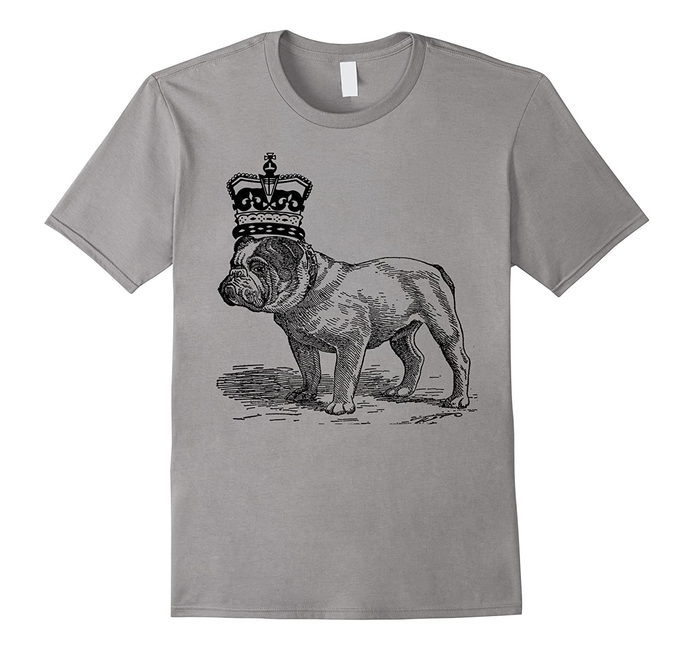 English bulldog crowned funny King crown T-shirt-Art