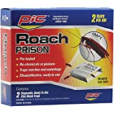 PIC Roach Prison Covered Insect Glue Traps (12 Pack of 2)