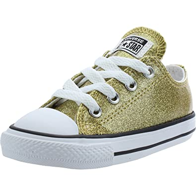 Converse Chuck Taylor All Star Glitter Ox Gold Synthetic 10 UK Child   Amazon.co.uk  Shoes   Bags bf6be5f3f