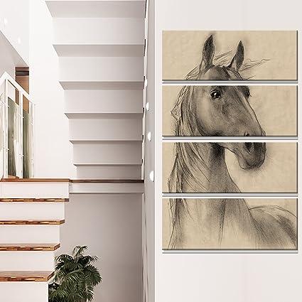 Amazon Com Designart Horse Head Illustration Extra Large Animal