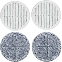 Homitt 4Pcs Replacement Mop Pads for Electric Spin Mop, Microfiber Washable Mop Pads for Cleaning Hardwood Floor and Tile, 2 Scrubby Pads and 2 Soft Pads