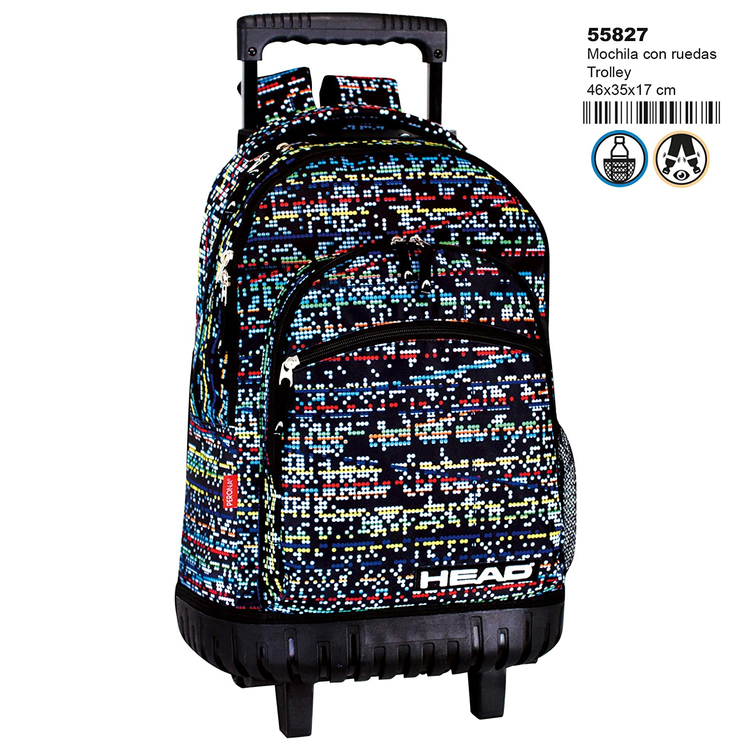 Montichelvo Montichelvo Trolley HD Digital Bolso de Viaje, 46 cm, (Multicolour): Amazon.es: Equipaje