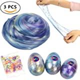 Soft Egg Slime Colorful Fluffy Slime Scented Stress Relief Toy Sludge Toys (3 Pack)