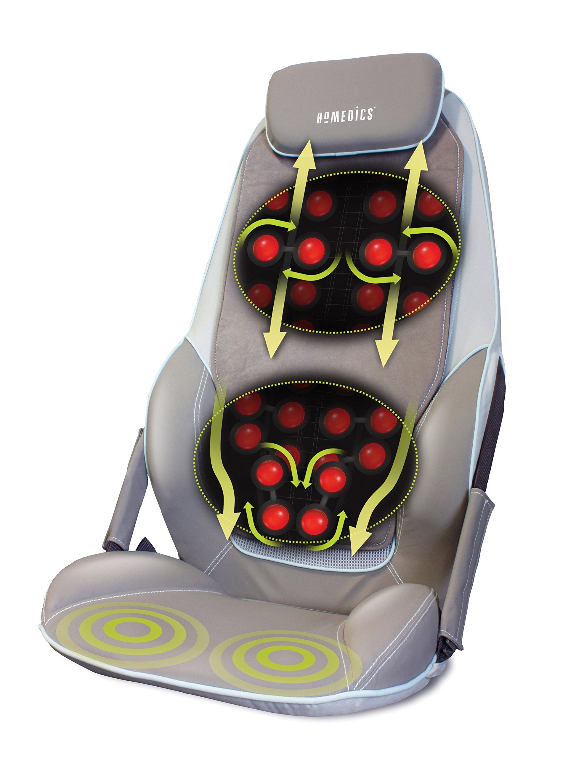 HoMedics Appareil de massage shiatsu pour le dos et les épaules - Fauteuil de massage réglable, tension 3 réglages de zone, Tout, Muscles du haut et du bas du dos, Vibration, Chaleur apaisante - Noir product image