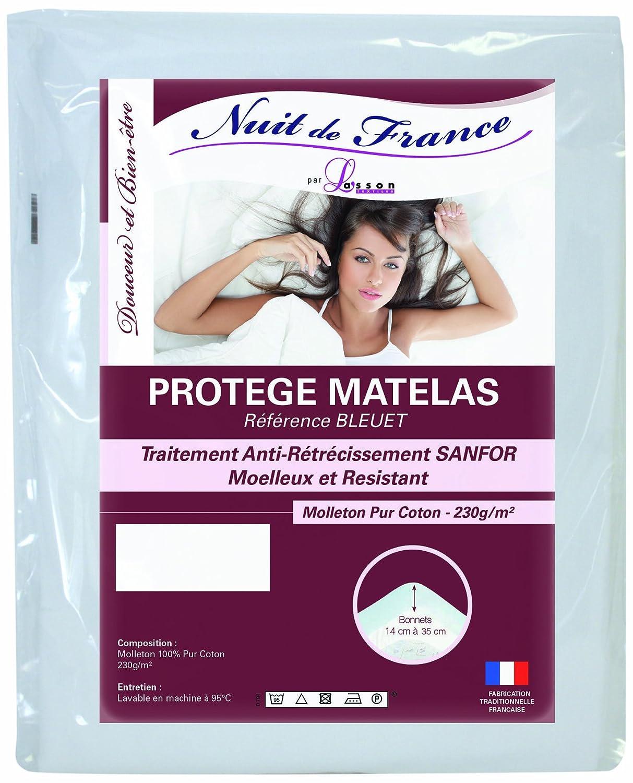 Nuit de France 329392 – Proteggi-Materasso in Cotone, Colore: Bianco, 100% Cotone, Bianco, 140 x 190 cm Prezzi offerte