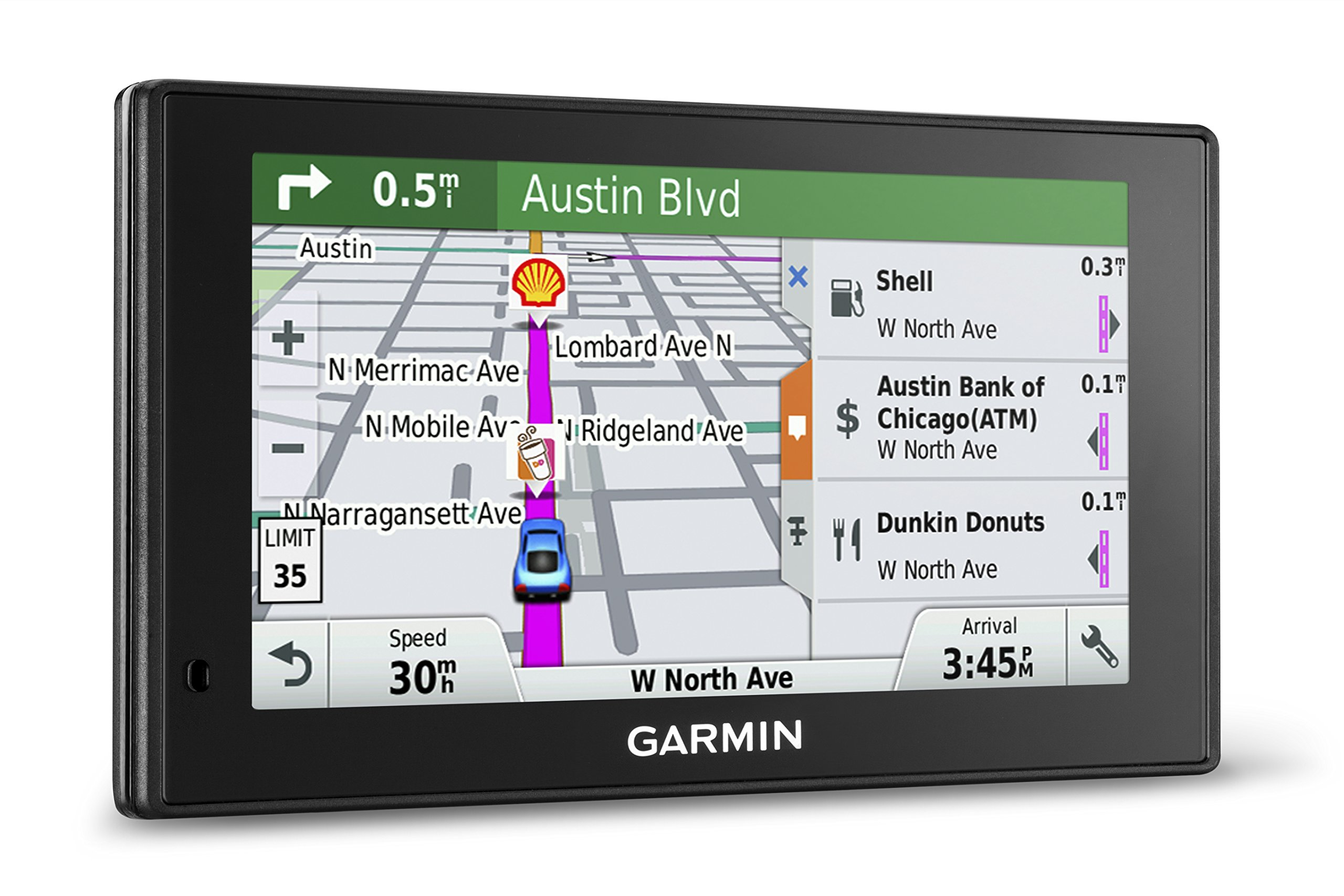 Garmin DriveSmart 70 NA LMT GPS Navigator System with Lifetime Maps and Traffic, Smart Notifications, Voice Activation, and Driver Alerts