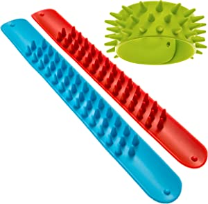 Impresa Products Spiky Slap Bracelets / Slap Bands (3 Pack) - Great Sensory Toys / Fidget Toys - BPA/Phthalate/Latex-Free