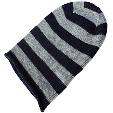 Image Unavailable. Image not available for. Color  Love Cashmere Mens  Striped 100% Cashmere Beanie Hat ... 8930fc024bfc