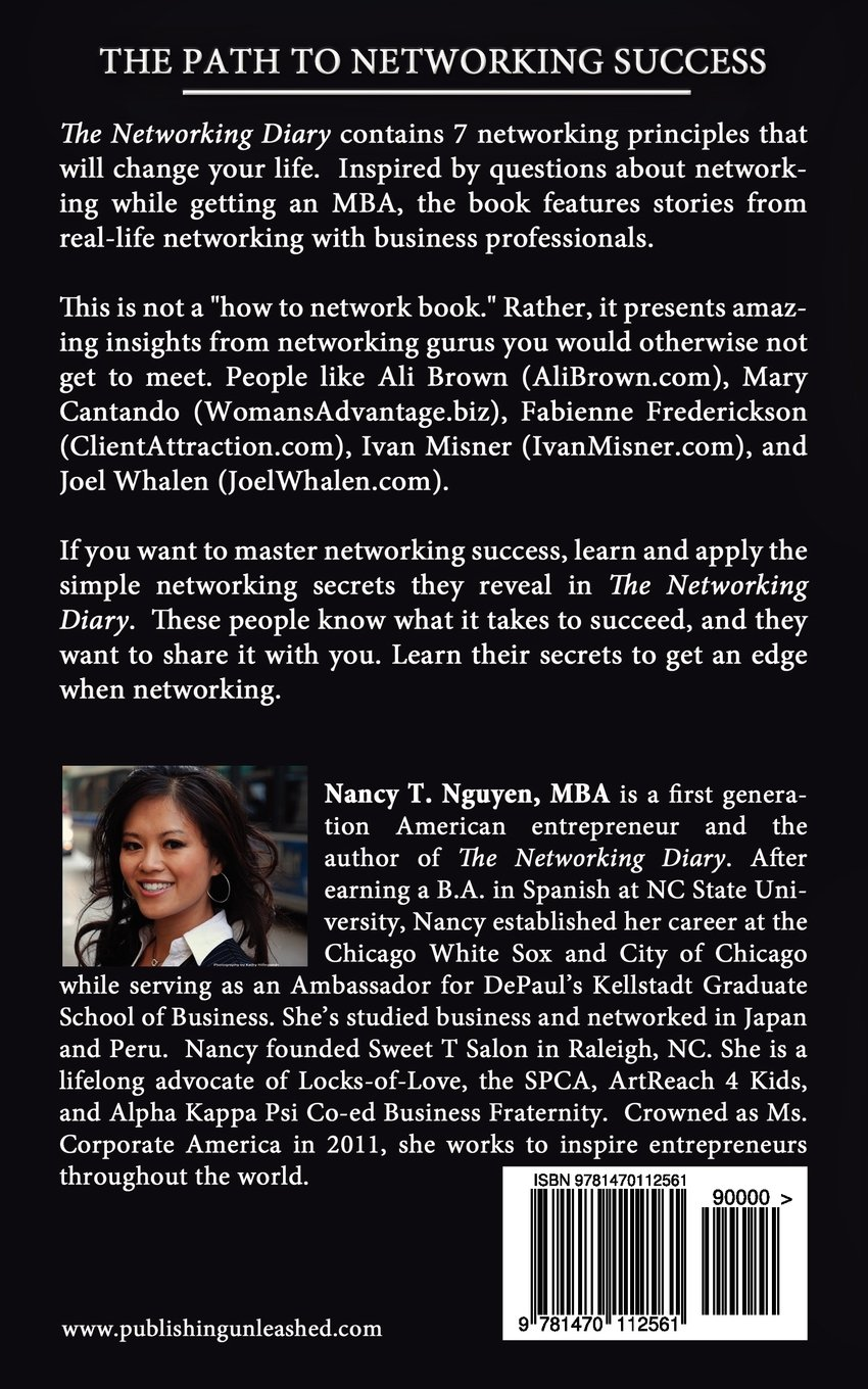 com the networking diary nancy t nguyen com the networking diary 9781470112561 nancy t nguyen mba tanya stockton stephanee killen maryellen smith kathy kelly hillegonds