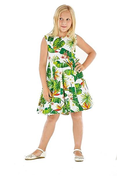 020fe18e4 Hawaii Hangover Vestido Hawaiano Vintage Fit y Flare de niña en Vendimia  Tropical Toile  Amazon.es  Ropa y accesorios