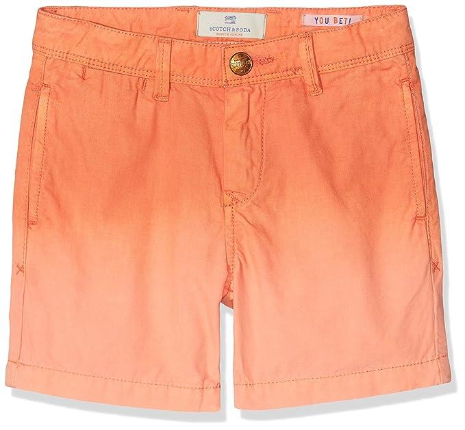 fc93cde10c0 Scotch & Soda Shrunk Lightweight Chino Shorts with Washing Pantaloni,  Arancione (Shrimp 2755)