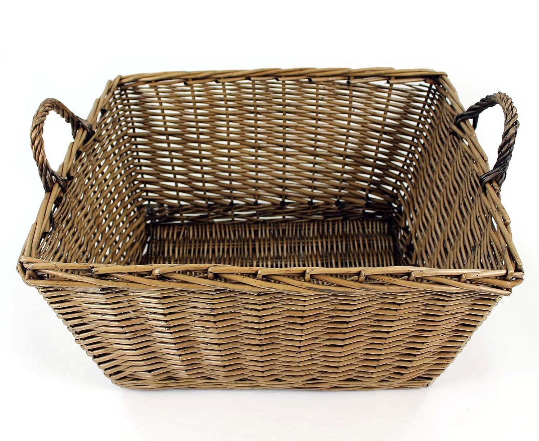 Easipet Large Wicker Log Basket or Carrier for Logs, Firewood, Storage (832)