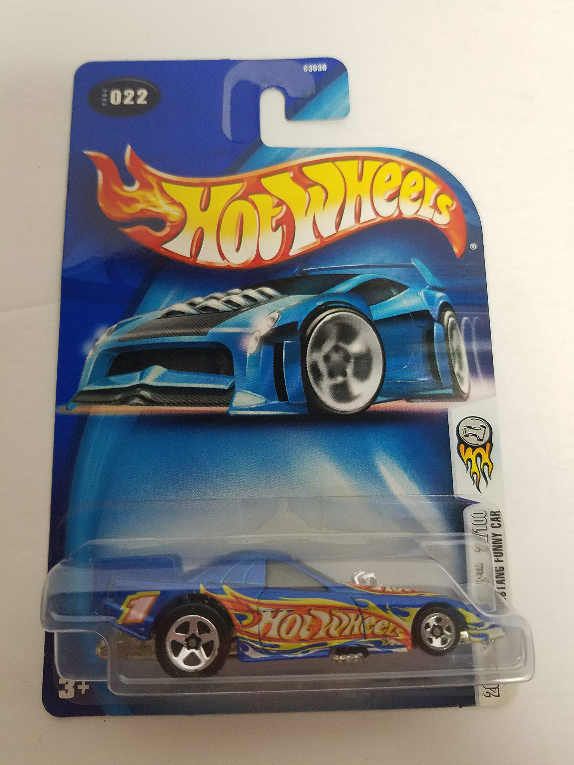 Mustang Funny Car Blue Color 2004 First Editions 22/100 Hot Wheels Diecast Car No. 022