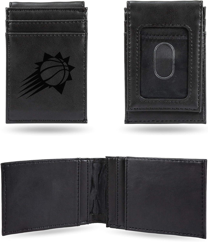 Rico Industries NBA Laser Engraved Front Pocket Wallet Black