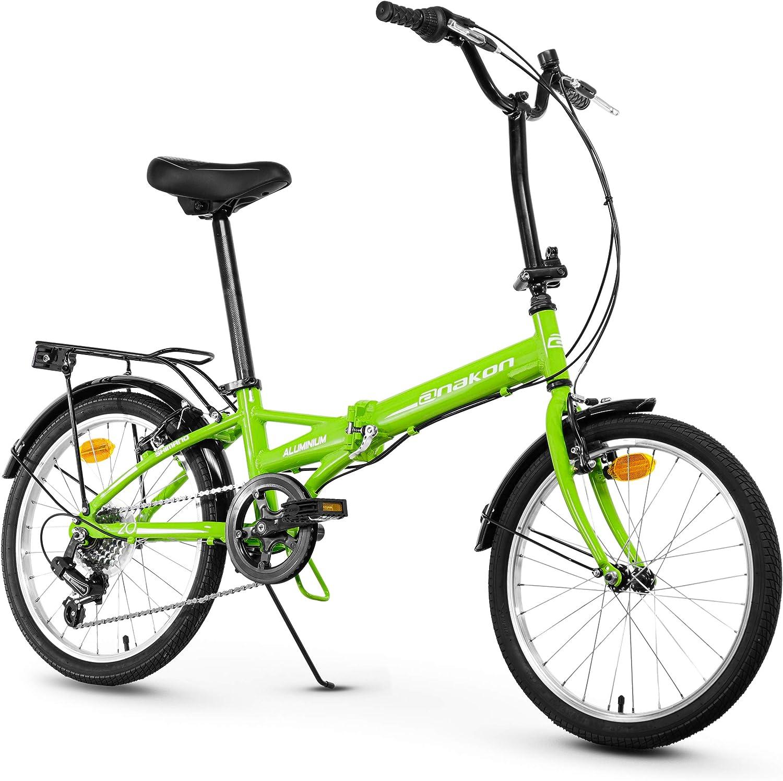 Anakon Folding Sport Bicicleta Plegable, Adultos Unisex