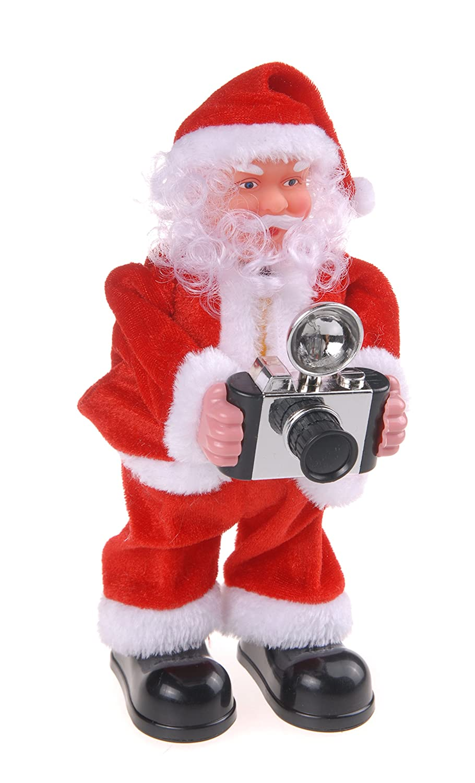 Autour de Minuit Intorno di Mezzanotte 5 aut032 Babbo Natale Fotografo a Batteria plastica, Plastica, 22.5 x 9 x 25 cm Codico 5AUT032