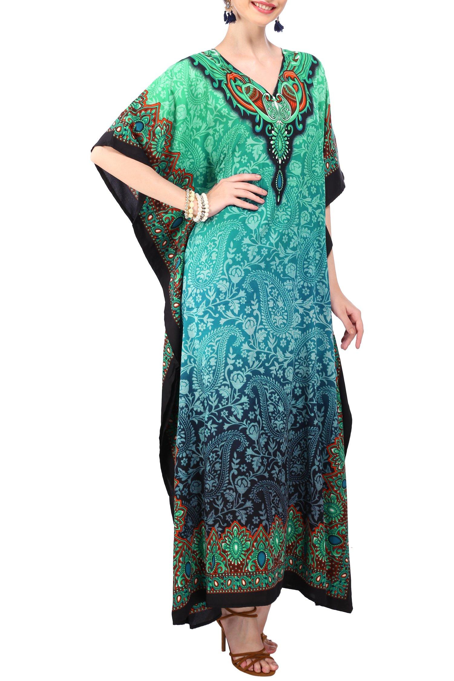 Miss Lavish London Women Kaftan Tunic Kimono Free Size Long Maxi Party Dress Loungewear Holidays Nightwear Beach Everyday Cover up Dresses by Miss Lavish London (Image #2)