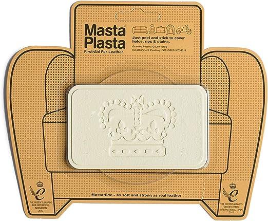 MastaPlasta - Parches autoadhesivos para reparación de Cuero y Otros Tejidos. Marfil. Elije el tamaño y el diseño. Primeros Auxilios para sofás, Asientos de Coche, Bolsos, Chaquetas: Amazon.es: Coche y moto